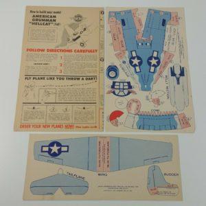 american-grumman-hellcat-f6f-model-airplane-jack-armstrong-radio-premium-1944