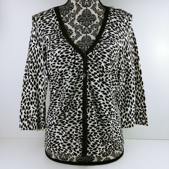 ann-taylor-womens-brown-long-sleeve-button-down-cardigan-sweater-size-s-leaves