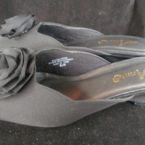 annie-evonne-flower-slide-black-size-8-5-m-women-shoes-slippers-low-heel