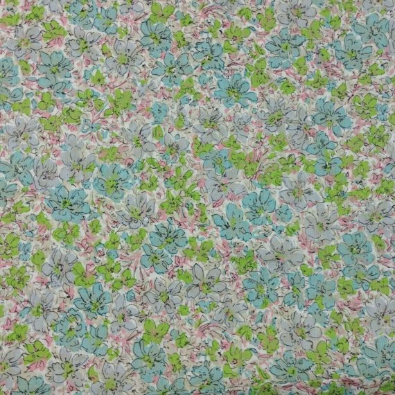 blue-green-pink-floral-art-deco-vintage-lightweight-fabric-5-1-2-yards