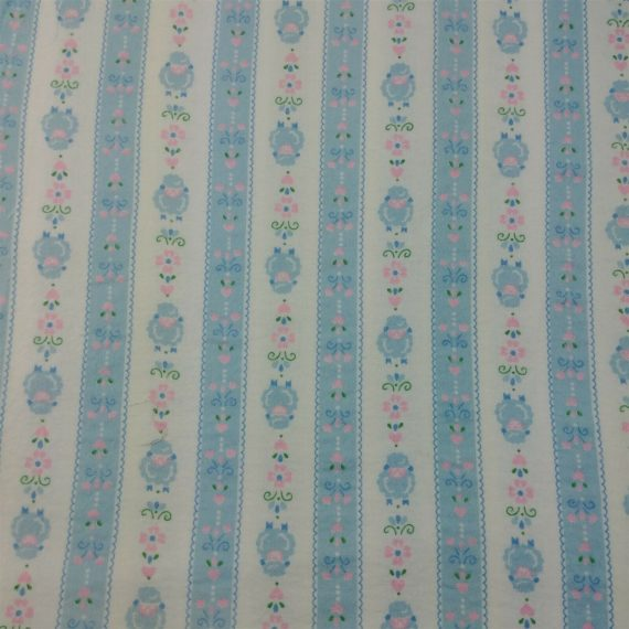 blue-pink-sheet-floral-striped-soft-vintage-baby-blanket-backing-fabric-5-yds