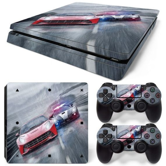 car-racing-ps4-slim-console-2-controllers-decal-vinyl-art-skin-wrap-sticker