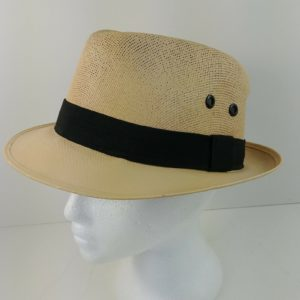 charlie-solid-khaki-classic-sheer-fedora-cap-hat-size-m-mexico