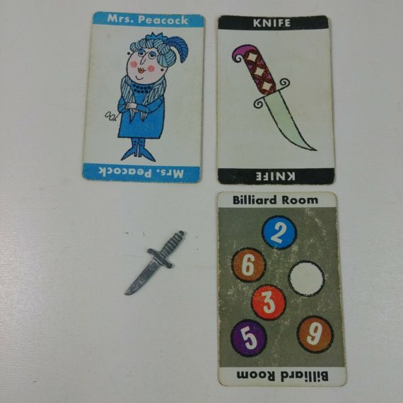 clue-display-solution-art-craft-fun-mrs-peacock-billiard-room-knife-lot-7