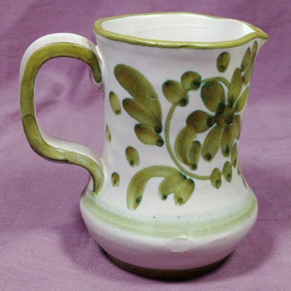 decorative-ceramic-creamer-pitcher-holt-howard-hh-italy-avocado-green