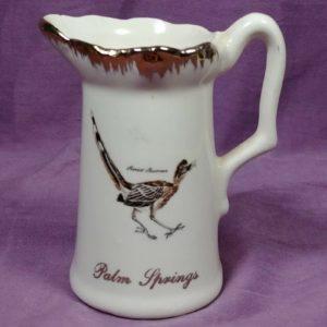 decorative-ceramic-pitcher-creamer-palm-springs-road-runner-souvenir