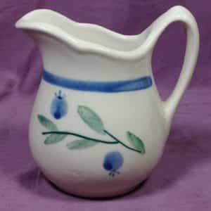 decorative-collectible-ceramic-pitcher-creamer-1988-blue-berry