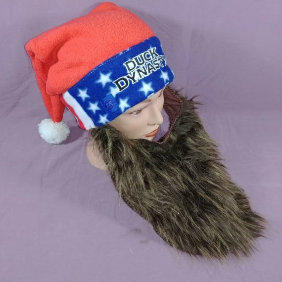 duck-dynasty-brown-beard-santa-hat-patriotic-red-white-blue-ae-reality-tv