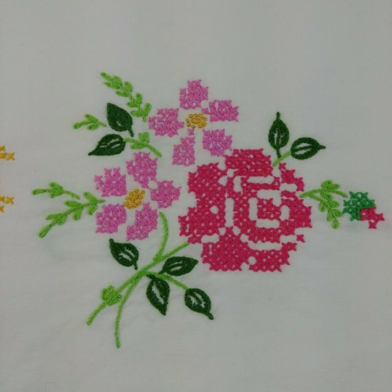 embroidered-pillowcase-tubing-pink-floral-unfinished-needlepoint-cross-stitch