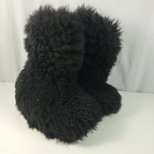 fluffy-boots-eskimo-furry-winter-black-snow-warm-long-yeti-size-9-men-10-5-women
