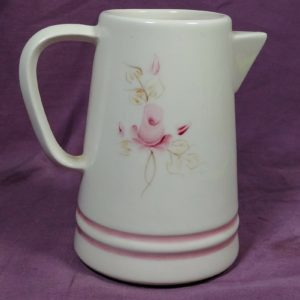 hand-painted-lasting-products-inc-usa-creamer-pitcher-pink-rose-floral