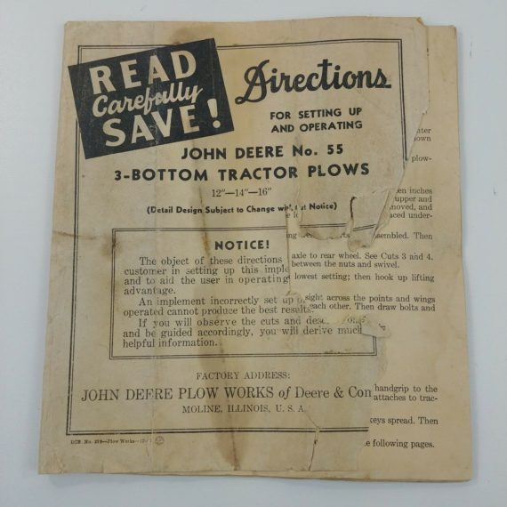john-deere-set-up-operating-instruction-manual-no-55-3-bottom-tractor-plows