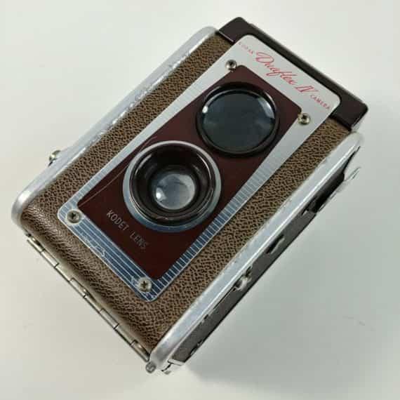 kodak-duaflex-iv-dual-lens-vintage-camera-1950s-60s-re-purpose-into-a-bookend