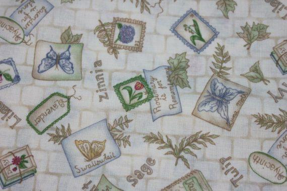 leslie-beck-cranston-vintage-fabric-cotton-garden-flower-butterfly-44-x-44