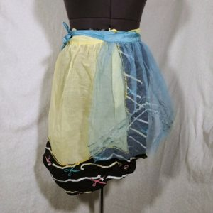 lot-of-2-vintage-aprons-sewing-tule-entertaining-tea-time-blue-yellow