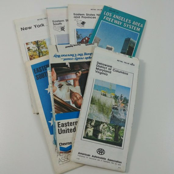 lot-of-vintage-road-maps-los-angeles-ca-eastern-state-maryland-virginia-new-york