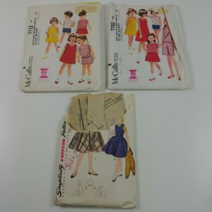mccalls-girls-size-5-7-dresses-skirts-blouses-sewing-patterns-vintage-lot-208
