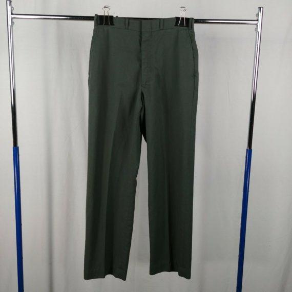 mens-gray-trousers-casual-dress-pants-slacks-size-30-r-polyester-wool-blend