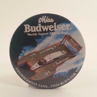 miss-budweiser-speed-hydroplane-vintage-pin-back-button-souvenir-rare