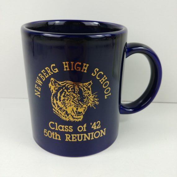 newberg-or-high-school-class-of-1942-50th-reunion-mug-1994-blue-tiger