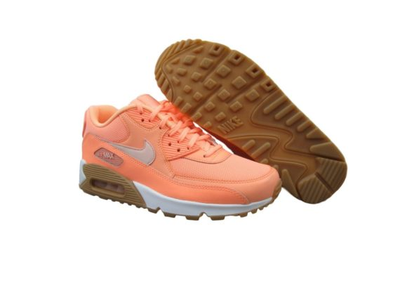 nike-air-max-90-running-shoes-size-6-5-womens-sunset-glow-tint-gum-325213-802