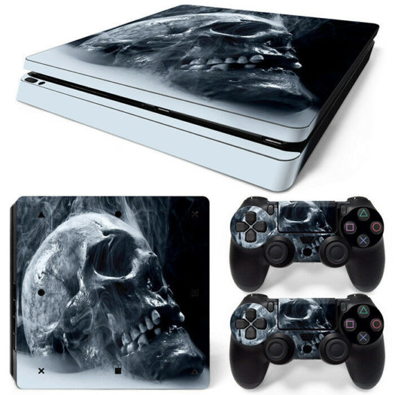 ps4-slim-skin-console-2-controllers-skulls-vinyl-decal-wrap