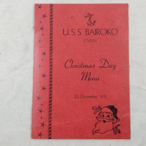 rare-1945-christmas-day-dinner-menu-for-crew-of-uss-bairoko-escort-carrier