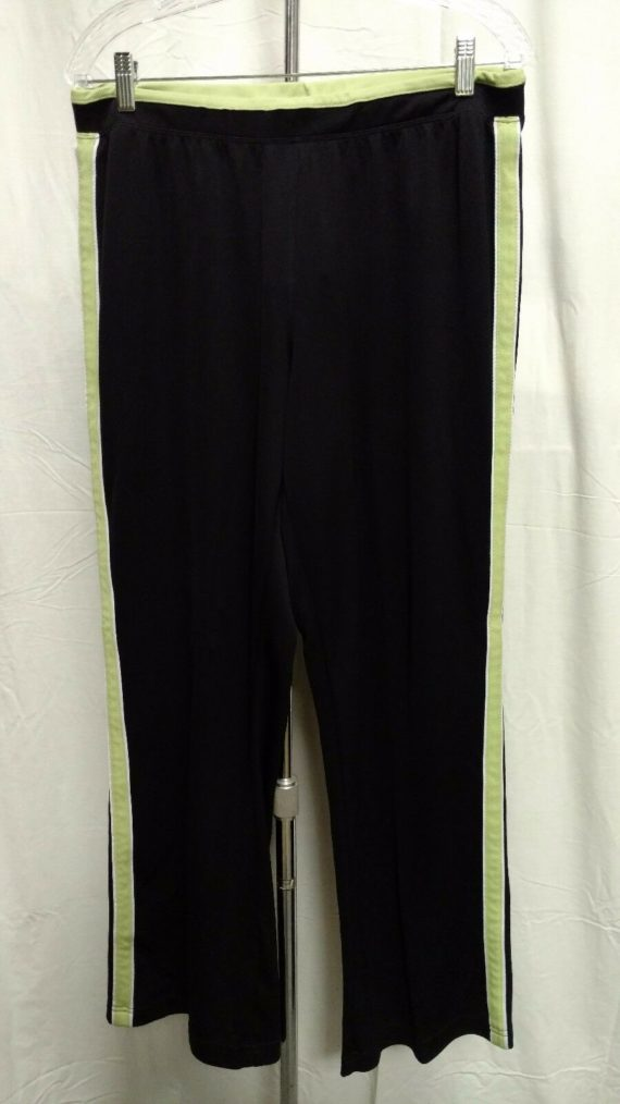 sjb-active-black-exercise-pants-athletic-wear-womens-sz-large
