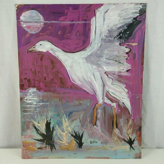 snow-goose-original-art-by-bruce-pettit-1996-mixed-medium-on-canvas-board-2016