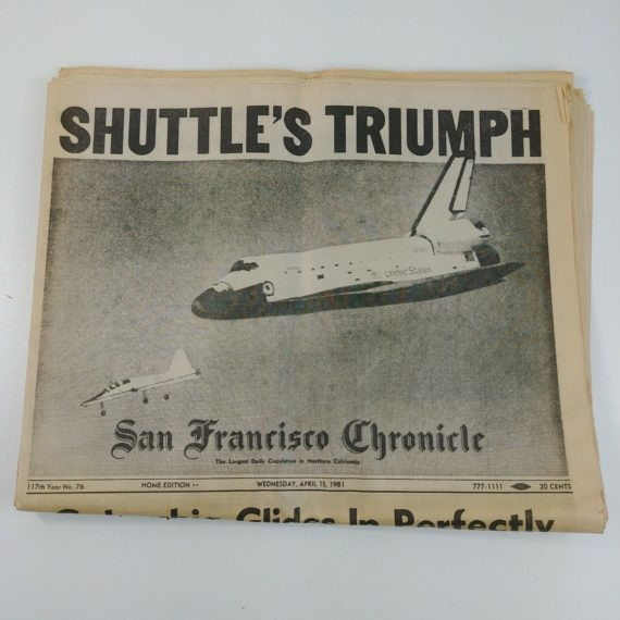 space-shuttle-columbia-april-15-1981-newspaper-san-francisco-chronicle