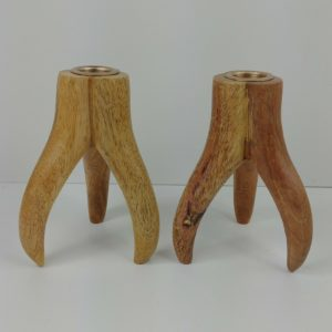 stylish-hardwood-wood-antler-candlesticks-5-1-4-tall-x-3-1-4-wide