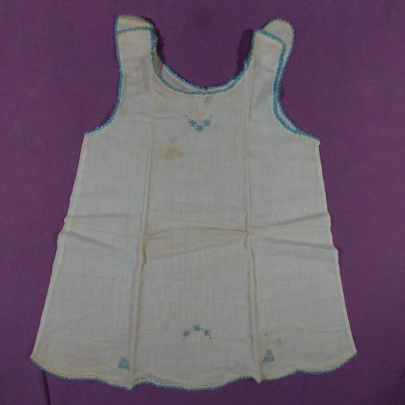 vintage-baby-clothes-sleeveless-w-blue-embroidery