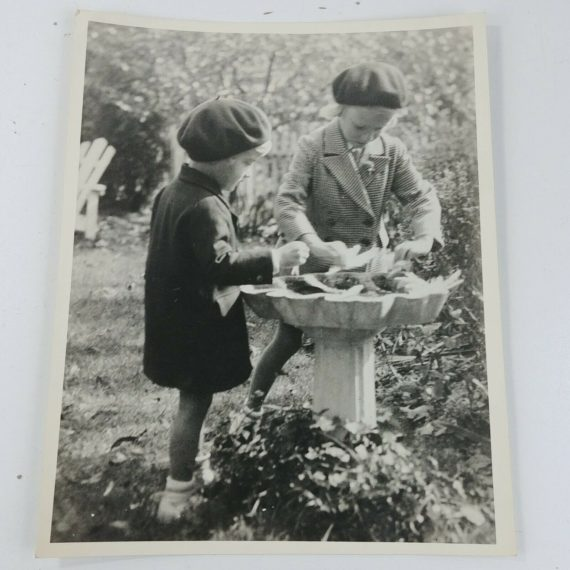 vintage-bw-art-print-children-playing-in-bird-bath-birdbath-8-x-10-lot-28