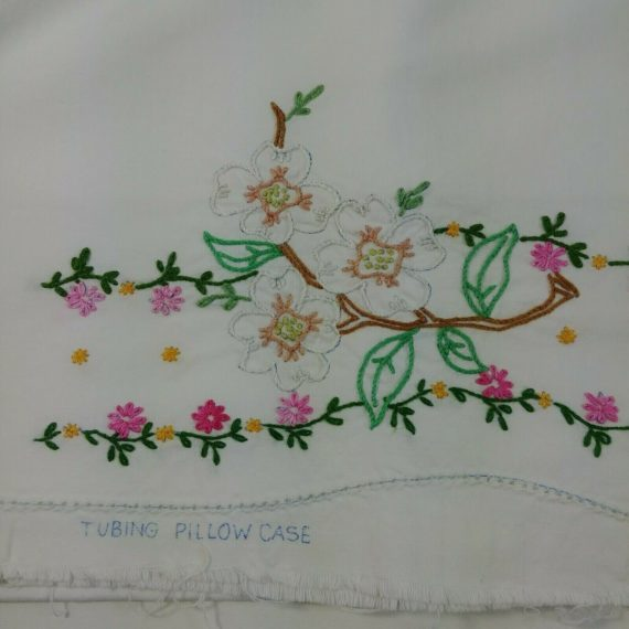 vintage-embroidered-pillowcase-tubing-pink-white-floral-unfinished-needlepoint