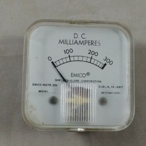 vintage-emico-electric-0-300-dc-milliamperes-gauge-panel-meter-steampunk