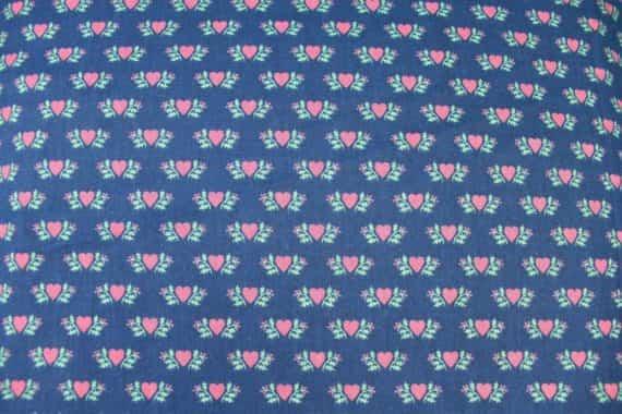 vintage-fabric-blue-with-pink-hearts-wamsutta-otc-45-x-332-9-yards