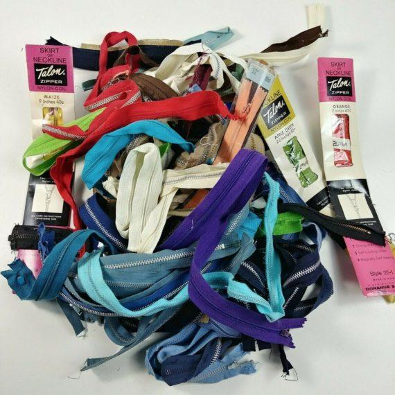 vintage-zipper-lot-talon-misc-colors-lengths-sizes-nylon-aluminum-lot-3