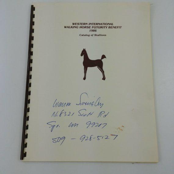 western-international-walking-horse-futurity-benefit-1986-catalog-stallions