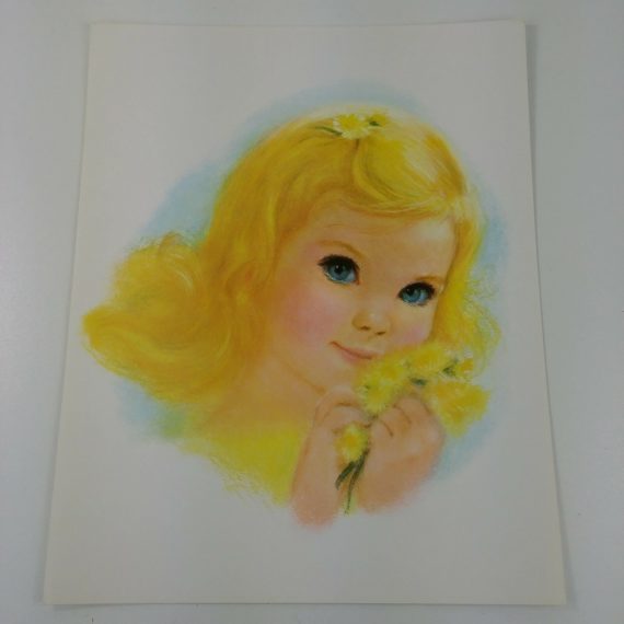 young-girl-art-print-child-blonde-hair-blue-eyes-yellow-dandelion-flowers