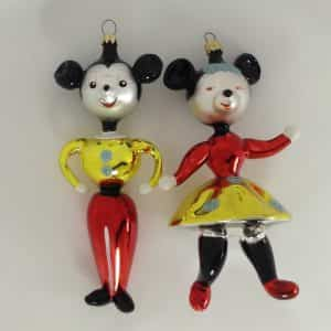christopher-radko-kissing-cousins-mickey-minnie-mouse-glass-ornaments