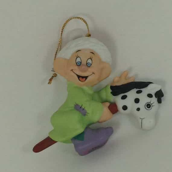 grolier-walt-disney-dopey-toy-horse-porcelain-ornament