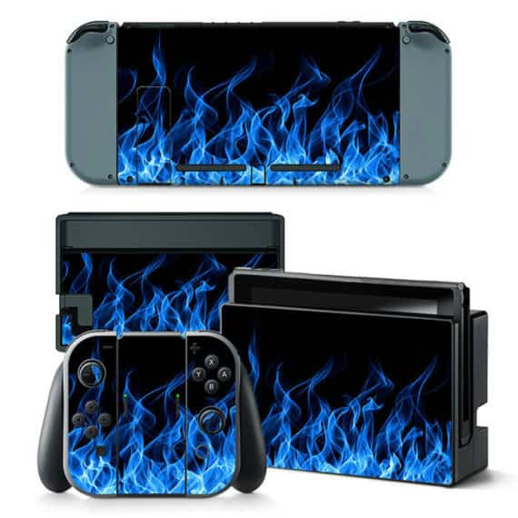 nintendo-switch-blue-flame-console-joy-con-controller-decal-vinyl-skin-sticker