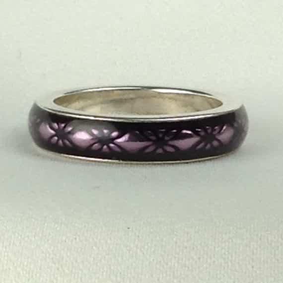pandora-purple-floral-enamel-ring-s-eur-size