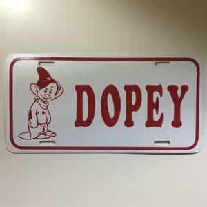walt-disney-dopey-vanity-plate-s