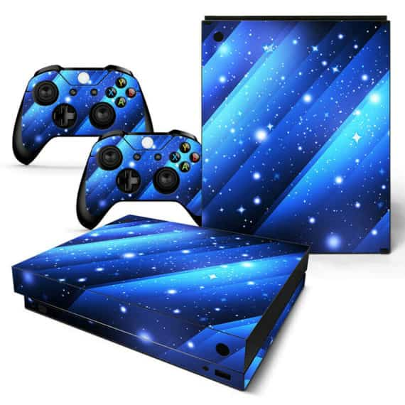 xbox-one-x-skin-console-controllers-blue-stars-vinyl-decal-wrap