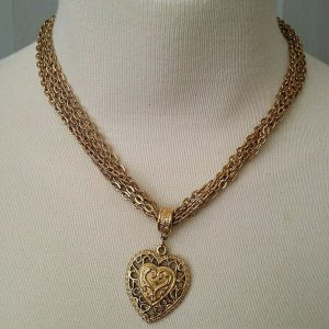 gold-tone-chains-w-heart-necklace
