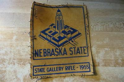 nebraska-state-gallery-rifle-shooting-award-vtg-felt-original-rare-patch