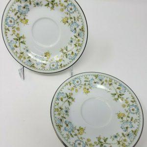 noritake-flourish-saucers-white-blue-yellow-floral-japan