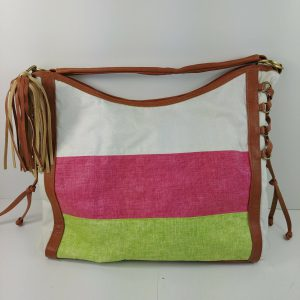 twiggy-bag-canvas-white-pink-green-w-faux-leather-trim-fringe-tassel
