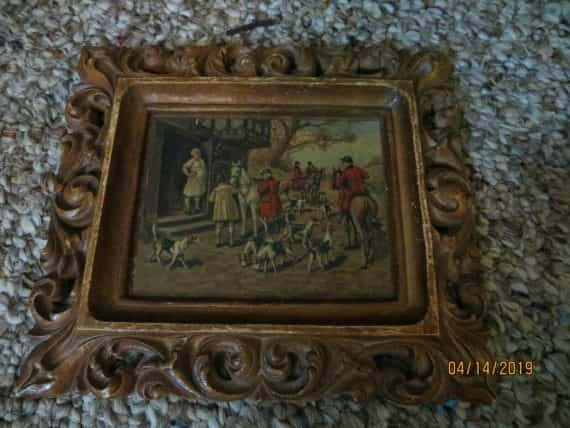 c-moss-hunters-and-the-hounds-litho-picture-framed